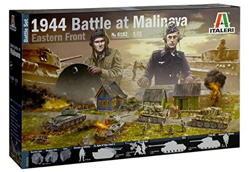 Italeri 6182S-Maqueta de Battle at Malinava (Escala 1:72, 1944), Color Plateado (6182S)