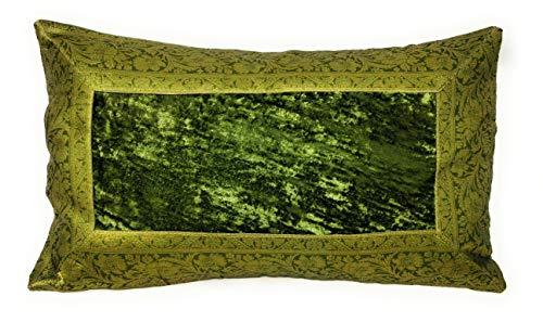 Aga's Own Indische Kissen 30 x 50 cm Kissenhülle Kissenbezug Orientalischer Bezug Indien (Grün)