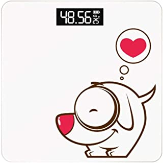 YQSHYP Weight Scale, LCD backlit Display, Slim Digital Body Weight Bathroom Scales with High Precision Sensors,Instant Precise Reading with Step-On Feature,Slim Design-White