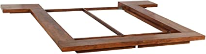 vidaXL Madera Maciza Estructura Futón 1,4x2m Colchón Japonés Armazón Somier