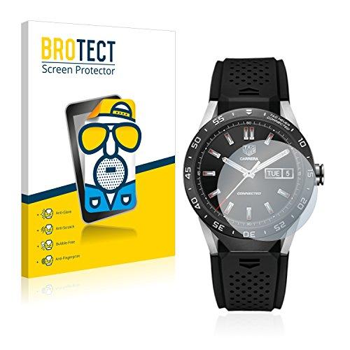 BROTECT 2X Entspiegelungs-Schutzfolie kompatibel mit Tag Heuer Connected 46 Bildschirmschutz-Folie Matt, Anti-Reflex, Anti-Fingerprint