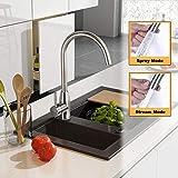 BONADE Rubinetto Miscelatore Cucina A 2 Getti Miscelatore e Canna Orientabile Girevole a 360° Rubinetto Lavello in acciaio INOX Rubinetto Monocomando dell'acqua calda e fredda per cucina