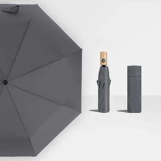 Household Solid Color Umbrella, Rain and Rain Automatic Umbrella, Sun Protection Umbrella, Folding Umbrella Huhero (Color : Gray)
