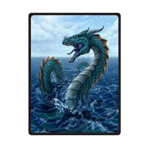 magische draak, Mysterieuze draak, Fire Breathing Dragon Super zachte fleece dekens en gooit 58 X 80 inch (groot)