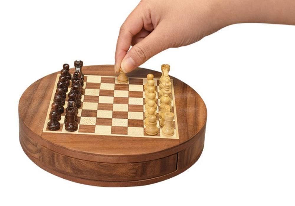 TTY Juego de ajedrez de Madera imantado Estilo Nuez con Incrustaciones con Piezas de ajedrez de Madera Staunton (Size : M) : Amazon.es: Juguetes y juegos