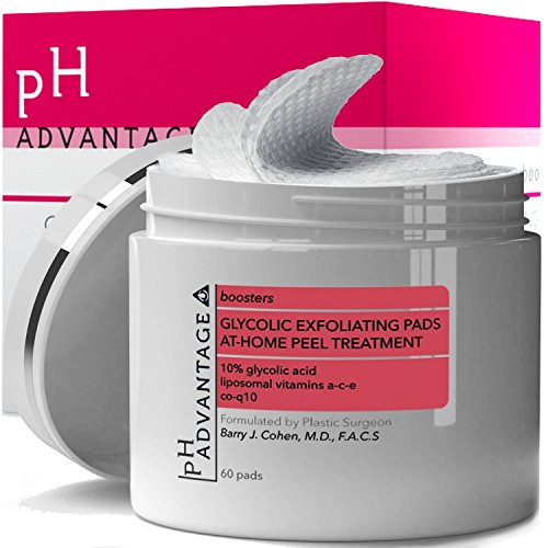 Glycolic Acid Peel Pads - Anti Aging AHA Facial Scrub Cleanser - Daily Face Treatment Helps Reduce Acne Blackheads Wrinkles - Skin Care for Women and Men - Boosts Efficiency of Moisturizers - 50 ct