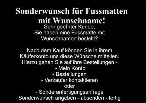 Creativ Deluxe Willkommen Fussmatte m. Wunschnamen - Fussmatte Bedruckt Türmatte Innenmatte Schmutzmatte lustige Motivfussmatte 2