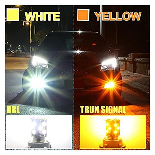Luces led 2pcs color dual de 1157 DIRIGIÓ Bombilla 7443 3157 vuelta del coche la luz de señal BAY15d W21 / 5W P21 / 5W P27 / 7W T20 T25 30 SMD DRL Lámpara auto 12V 24V para la habitación