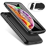 iPhone XS MAX バッテリーケース 5000mAh バッテリー内蔵ケース 大容量 超軽量 薄型 アイフォンXS MAXケース型バッテリー iPhone XS MAX 6.5インチ 対応 バッテリー 急速充電 (ブラック)