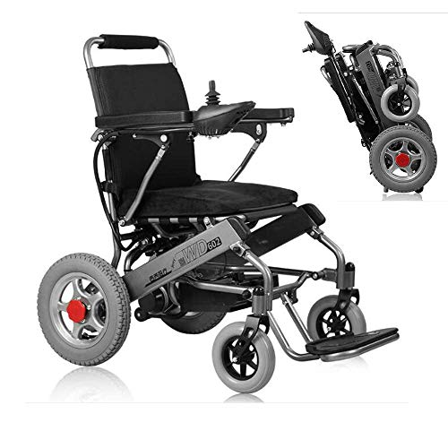 PLLP Medizinischer Reha-Stuhl, Rollstuhl, Elektrorollstuhl, Intelligent Modern Travel Langlebig Behinderter Älterer Klappbarer Komfortabler Elektrorollstuhl Auf Vier Rädern (20A Lithiumbatterie)