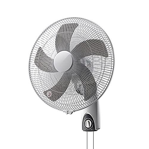 Ventilador de Pared Ventilador Oscilante Portátil de 3 Velocidades, Ventilador Eléctrico de Refrigeración por Aire Oscilante de Bajo Ruido con Inclinación Ajustable Y Base Resistente para Dormitorio