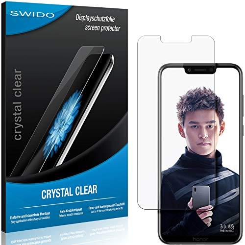 SWIDO Schutzfolie für Huawei Honor Play [2 Stück] Kristall-Klar, Hoher Härtegrad, Schutz vor Öl, Staub und Kratzer/Glasfolie, Displayschutz, Displayschutzfolie, Panzerglas-Folie