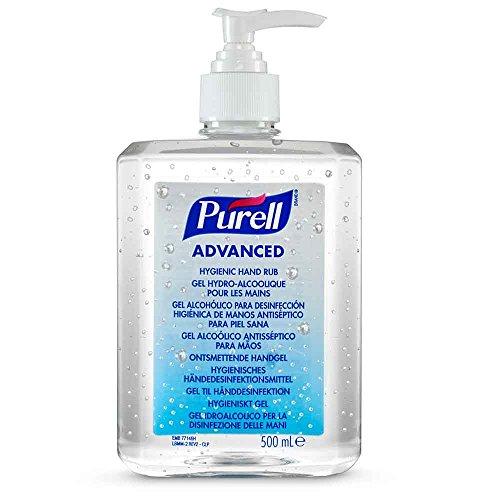 NRS Healthcare Purell Advanced Hygienic Hand Rub Pump Bottle, 500 ml