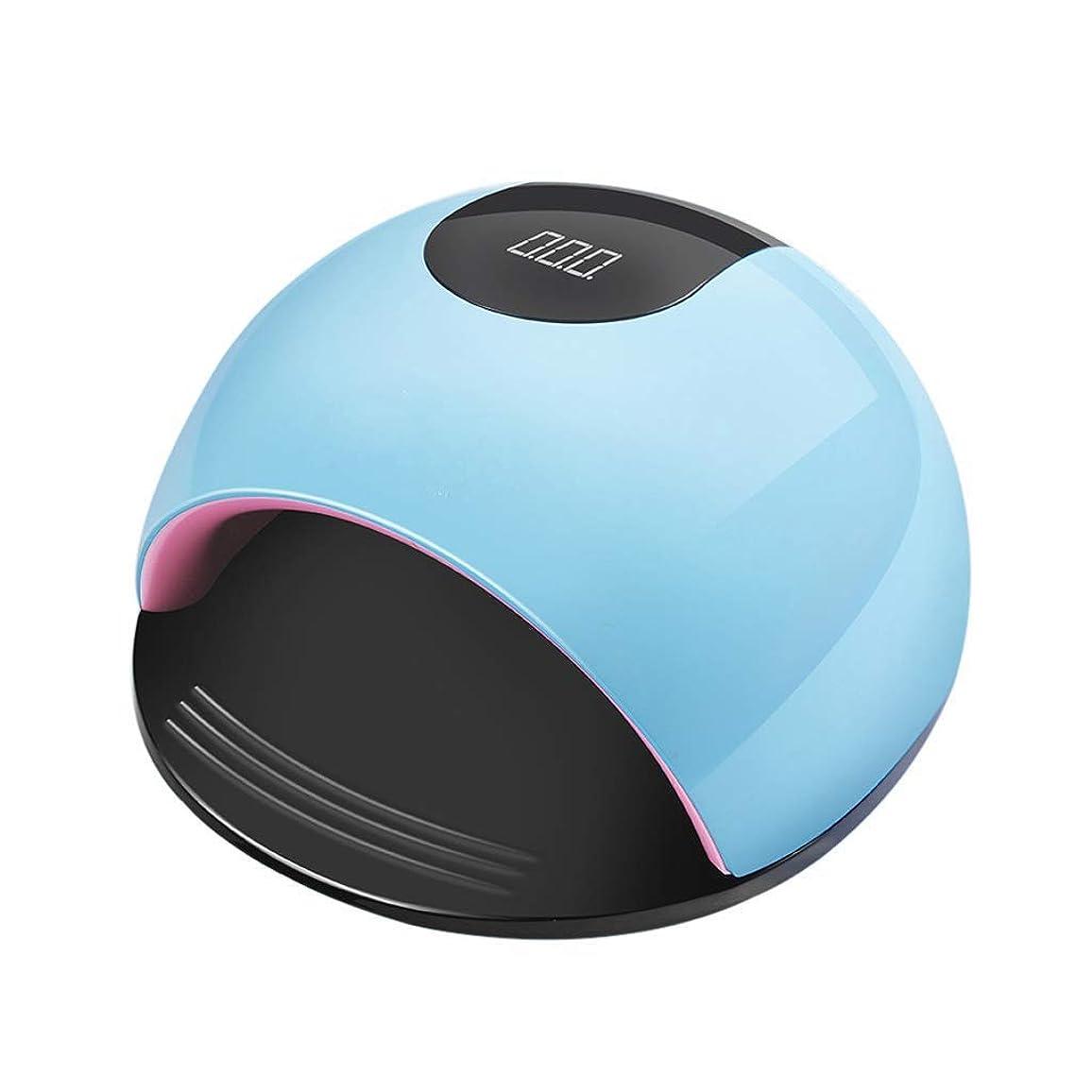 アセンブリマチュピチュ仕方Yalztc-zyq16 ネイルライト80ワットハイパワーネイル光線療法機36デュアル光源LEDライトドライヤーLCDスクリーンタイミングクイックドライフルグルー(ブルー、ホワイト) (色 : 青)