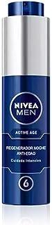 NIVEA MEN Active Age Regenerador Anti-edad Noche (1 x 50 ml) crema de noche para la piel madura del hombre regenerador f...