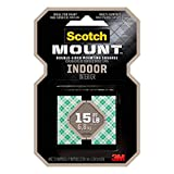 Scotch Indoor Mounting Squares, 1-inch x 1-inch, White, 48-Squares (311P)...