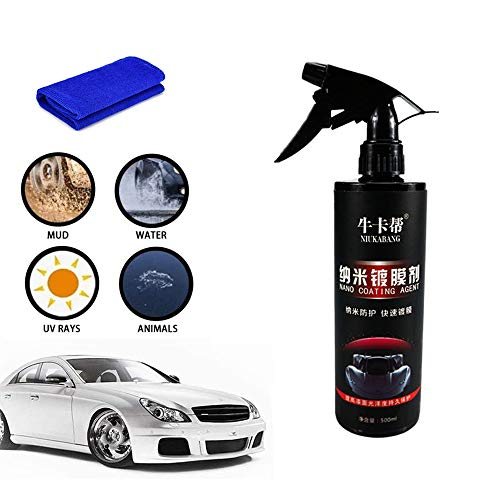 Zenyoumei Auto Nano Reparaturspray, ersetzt Autowachs Supergloss Keramik Autobeschichtung Lack Spray Kit Schützen Sie das Auto vor Witterungseinflüssen Universal (500ml)