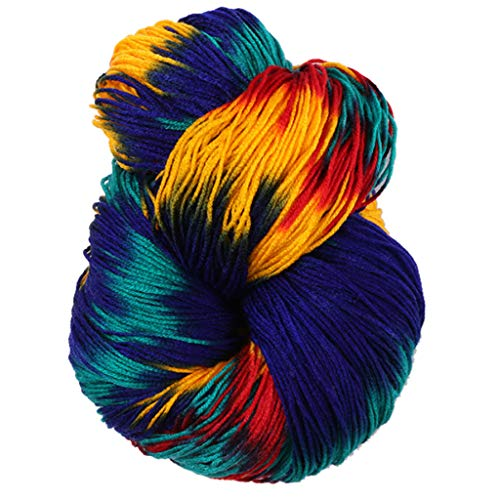 jiken 50g/Ball Hand-Knitted Mixed Colorful Acrylic Dyed Crochet Thread Knitting Yarn