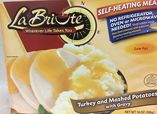 La Briute Turkey And Mashed Potatoes With Gravy 14 Oz. Pk Of 3.