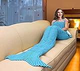 Catalonia Mermaid Tail Sherpa Blanket,Super Soft Warm Comfy Sherpa...
