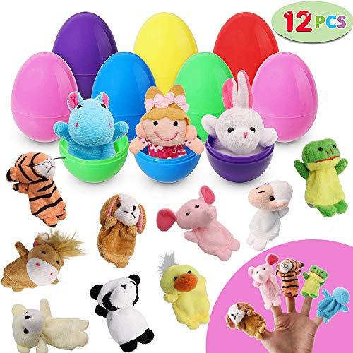 SPECOOL 12 Toy Gefüllte Ostereier gefüllt mit schönen Puppen, Ostern Deko,Versteckspiel,überraschung Spielzeug Geschenke für die Osterjagd Kids Party Favors Dekoration oder Geschichtenerzählen