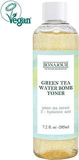 [BONAJOUR]Organic Green Tea & Hyaluronic Acid Facial Toner for dry skin - Vegan Cosmetics, 100% Pure Natural Moisturizer & High Moisture Type, Anti Aging, Anti Wrinkle, 6.9 fl. oz
