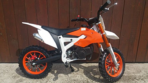49ccm Pocketbike Crossbike Dirtbike 49cc 2 Takt RV-Racing Kinder Motorrad Orange