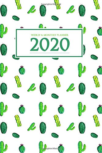 Planner 2020 Weekly and Monthly: From Jan to Dec 2020 | Weekly & Monthly Planner | Calendar Views | Holidays | Floral Cover | 6x9 inches | over 150 pages