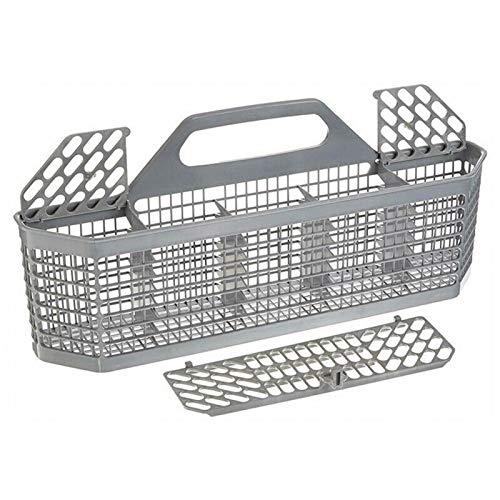 FDKJOK Cesta de lavavajillas universal para utensilios de lavavajillas con asa desmontable para parte de lavaplatos, accesorios para cubiertos y cubiertos