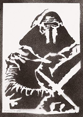 Kylo Ren Poster STAR WARS Plakat Handmade Graffiti Street Art - Artwork