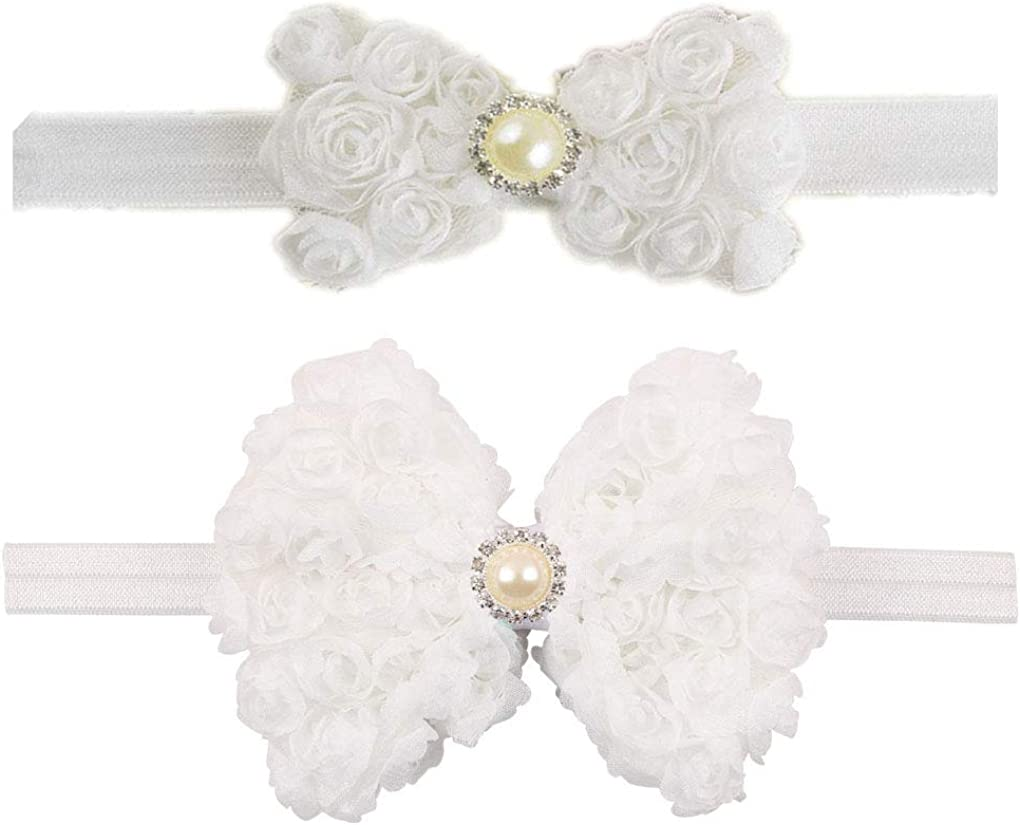 Baby Lace Flower Headbands with Hair Bow Band for Girls Hair Accessories JB360