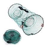 Cqinju-Rete da pesca BACCHIATA INTERNAZIONE DELLA MESH DELLA MESH COLLIPSBILE NET per il pesce gatto del gambero dei gamberetti del granchio, la trappola pieghevole della pesca della trappola del pesc