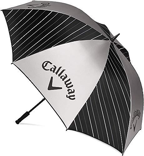 Callaway Parapluie Uv (2020), 64-Pouces 5920006 , Mixte Adulte, Noir/Argent/Blanc, Taille Unique