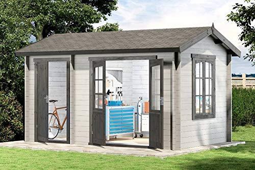 Alpholz 2-Raum Gartenhaus mit zwei Räumen Bolton-28 aus...