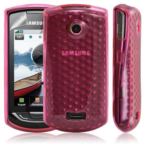 Funda de gel para Samsung S5620 y S5628 Player Star 2, diseño de diamantes, color rosa