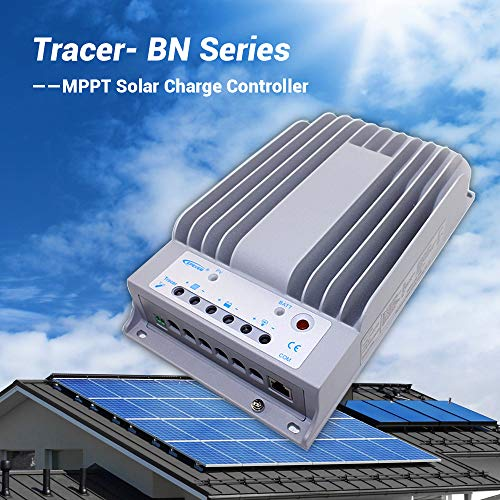 EPEVER 40A MPPT Solar Charge Controller Tracer BN Series Negative Ground 40 Amp Solar Panel Charge Controller 12V/24V Auto Identifying Intelligent Regulator Max. PV 150V