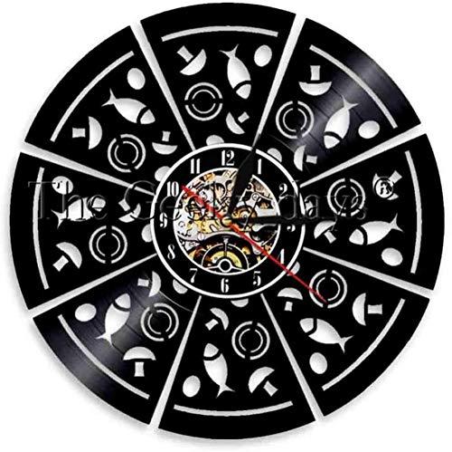 1 Pizza Shop LED Lite Insegna Cucina Decor Record Cucina Pizzeria da Parete Emblema Design Geometrico
