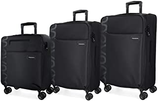 MOVOM Set of suitcases, Black, 79 centimeters