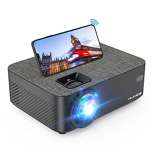 Projector, Vili Nice 6000 Lux WiFi Projector, Bluetooth Mini Projector with...