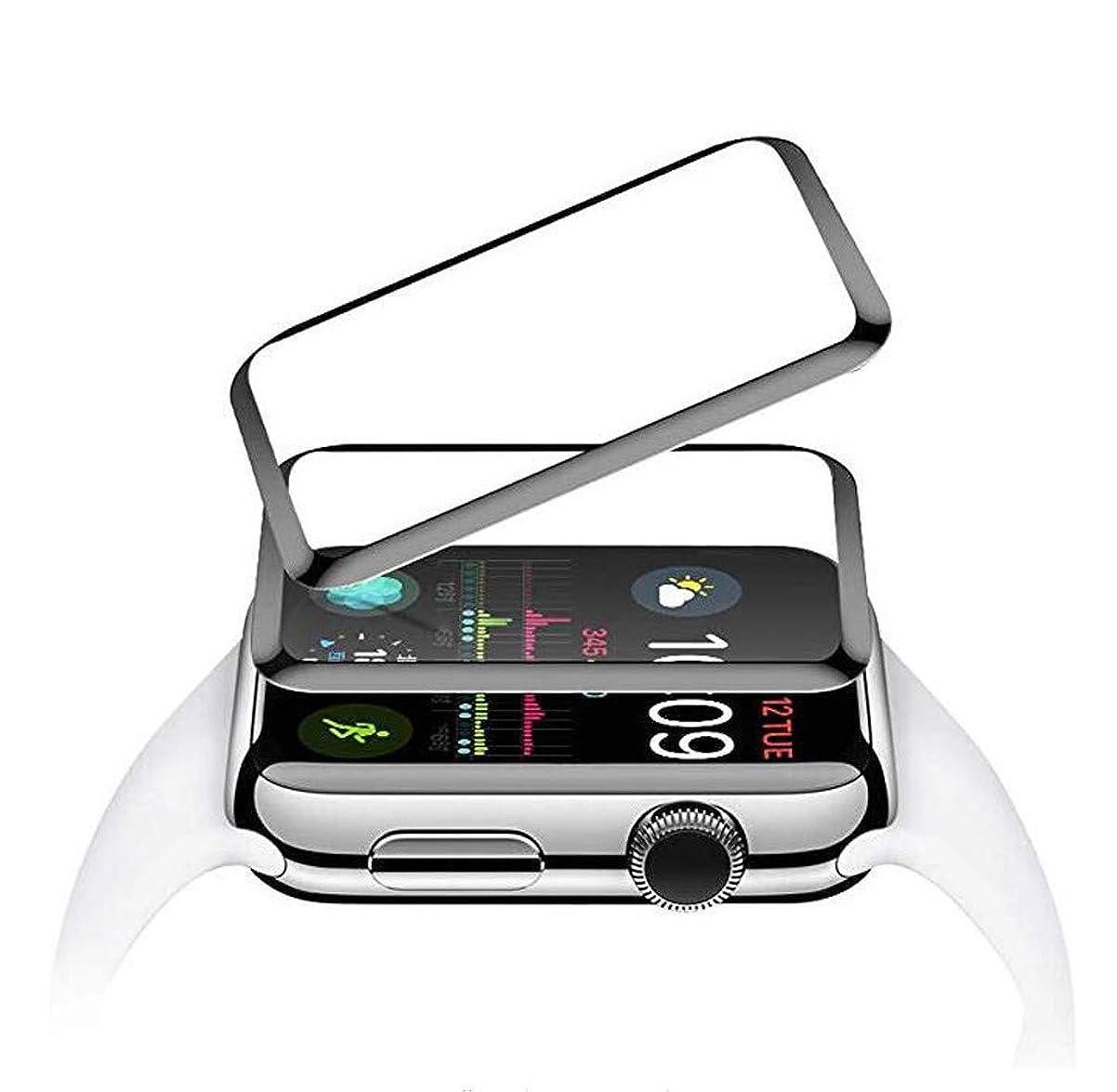 ポインタ対立再発するHLosanyy For Iwatch 5 Anti-Bubble Scratch-Resistant Cover 3D Protective SoftFilm 40MM