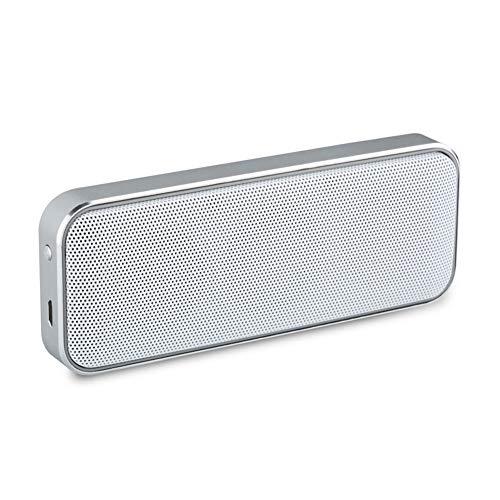 Z-XFY Bluetooth-Lautsprecher, drahtlose Bluetooth Lautsprecher-Platz Dual-Lautsprecher Subwoofer Tragbare Mini-Metall-dünne kleine Lautsprecher für Heim 750mAh,Weiß