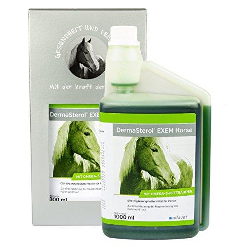 Alfavet DermaSterol® EXEM Horse Diät-Ergänzungsfuttermittel zur Unterstützung der Regeneration von Hufen und Haut/hoher Gehalt an Omega-3-Fettsäuren (15,3%) DHA