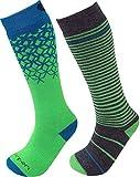 Lorpen Merino Wandersocken TCXTM Kinder Ski Socken (2Packungen), Unisex, grün*