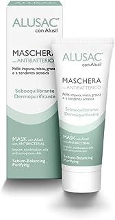 ALUSAC - Maschera Viso per Pelle Grassa e Impura, Dermopurificante, Opacizzante e Lenitiva, per una Pelle Omogenea e Levig...