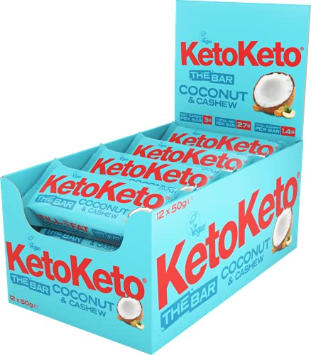 Keto Keto Bars 12 x 50g Keto Snacks Weight Loss | Keto Diet, Sugar Free...