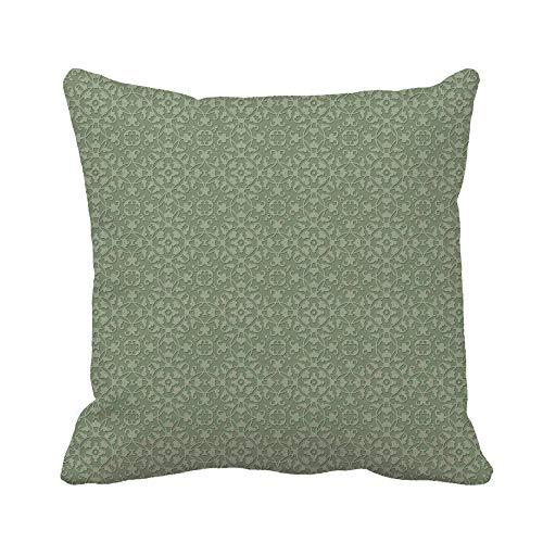 N\A Fodera per Cuscino di tiro Salvia Verde Damascato Modello Antico Barocco Bella Bellezza Broccato Federa Decorativa per la casa Federa Quadrata Fodera per Cuscino