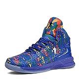 Rotok Zapatos de baloncesto personales para hombre - Entrenadores alta tecnología de choque elástico nuevo KPU+tela ligero aire precisión zapatos de baloncesto 36 2/3 de EE.UU. Azul colorido 9107