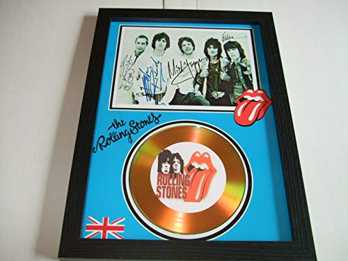 gold disc frames The Rolling Stones Signed Disque d'or
