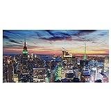 Mendler LED-Bild, Leinwandbild Leuchtbild Wandbild, Timer -