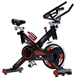 Pinty Pro Stationary Spin Exercise Bike, Indoor Upright Cycling Workout Gym, with Reinforced